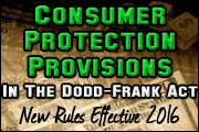 Consumer Protection Provisions in the Dodd-Frank Act: Adjusting to the New Paradigm