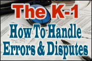 The K-1: How To Handle Errors And Disputes