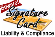 Beware! Signature Card Danger Zones