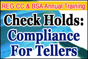 UCC 3 and 4 Issues for Tellers