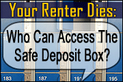 Your Renter Dies: Who Can Access The Safe Deposit Box Now?