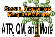 Small Creditor Revisions,  ATR &QM Requirements