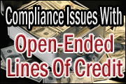 Open-Ended Lines Of Credit - Compliance Issues